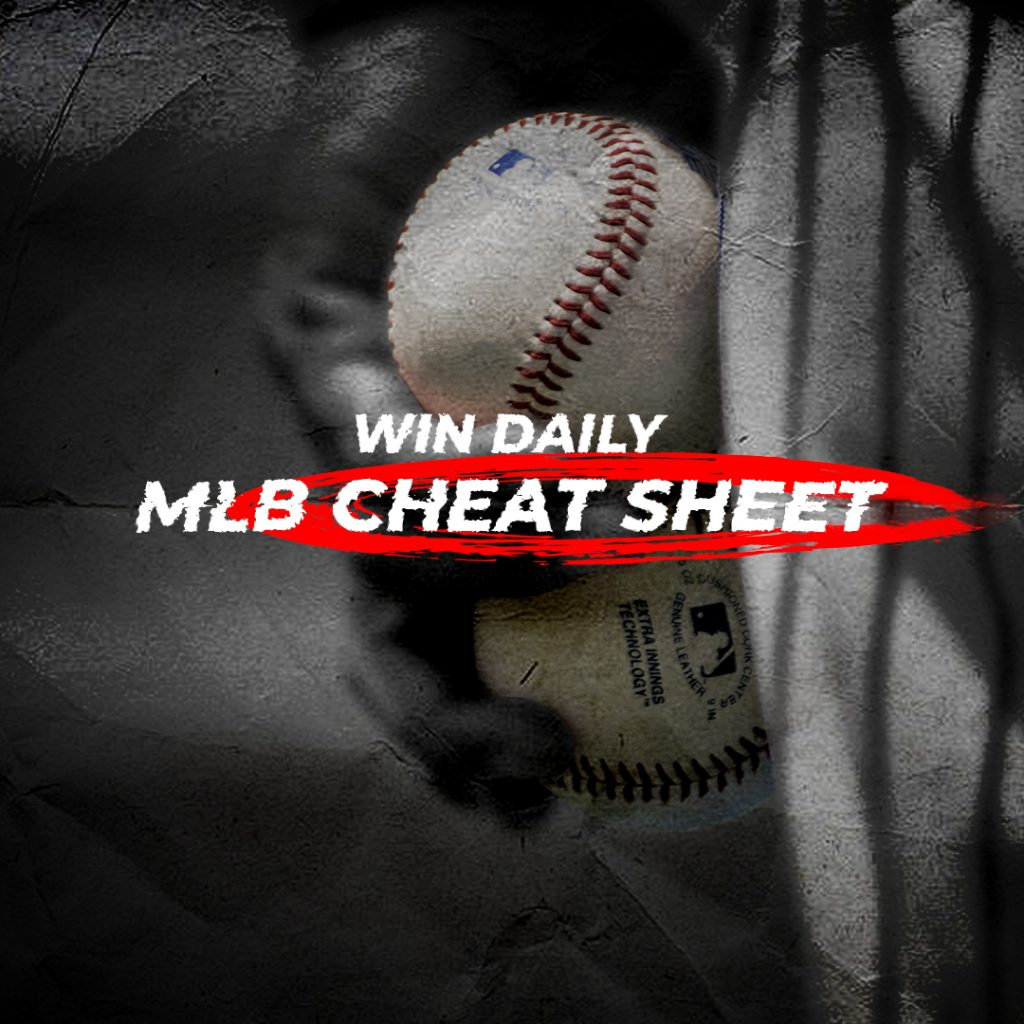graphic relating to Printable Fantasy Baseball Cheat Sheet identify DFS: Get Everyday MLB Cheatsheet Everyday Myth Sports activities Baseball